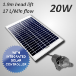 20W Submersible Solar Pump and Panel Kit