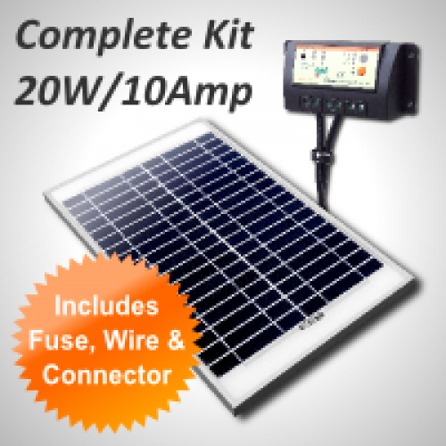Aussie Reptile Supplies Complete 12v Charging Kit 20w